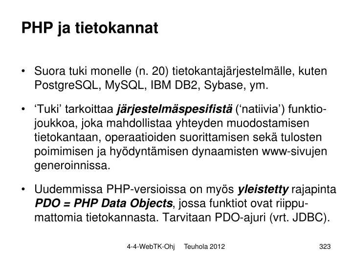 PHP ja tietokannat