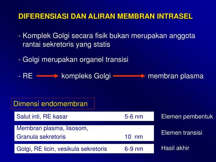 - REkompleks Golgimembran plasma