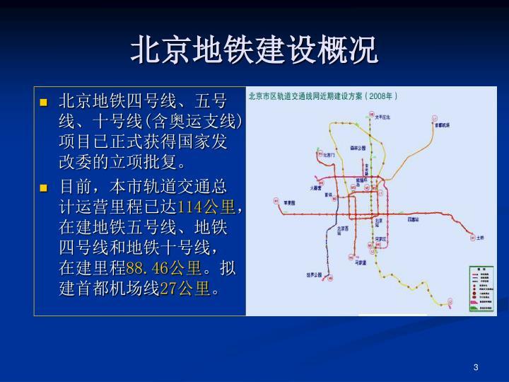 北京地铁建设概况