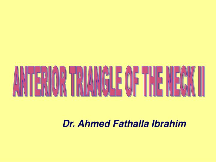 ANTERIOR TRIANGLE OF THE NECK II