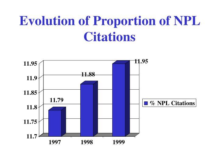 Evolution of Proportion of NPL Citations