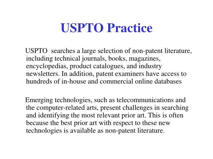 USPTO Practice