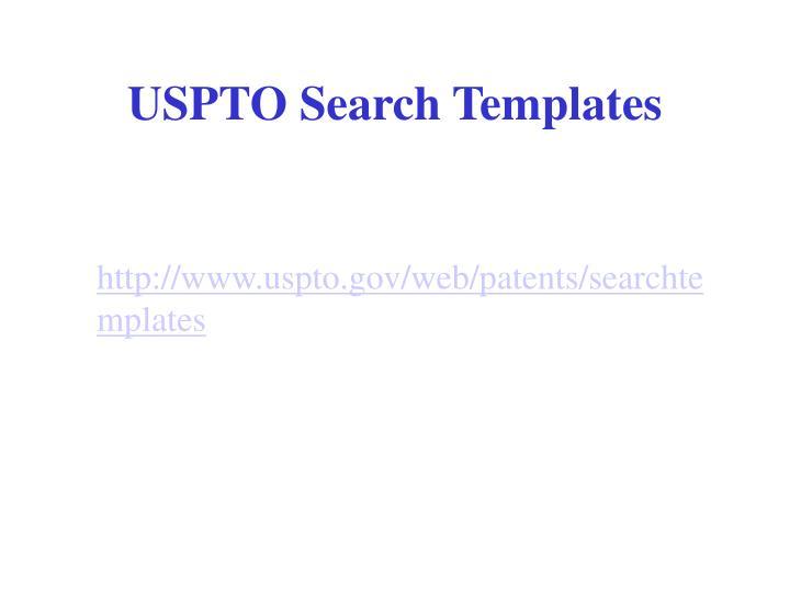 USPTO Search Templates