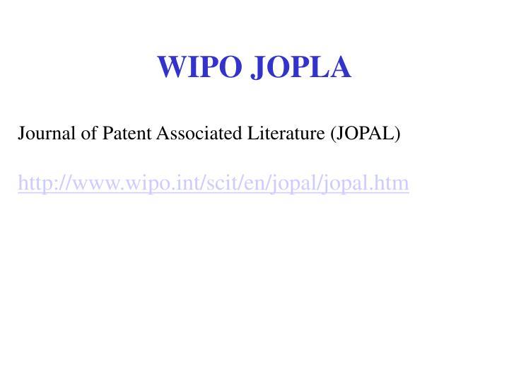 WIPO JOPLA