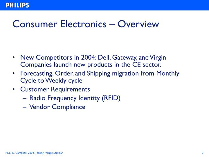 Consumer electronics overview1