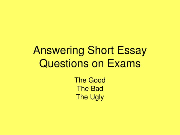 answering essay question