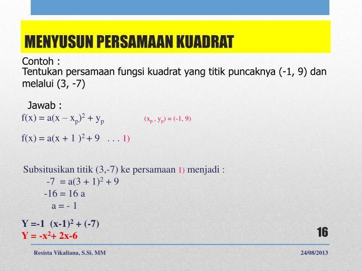 f(x) = a(x –