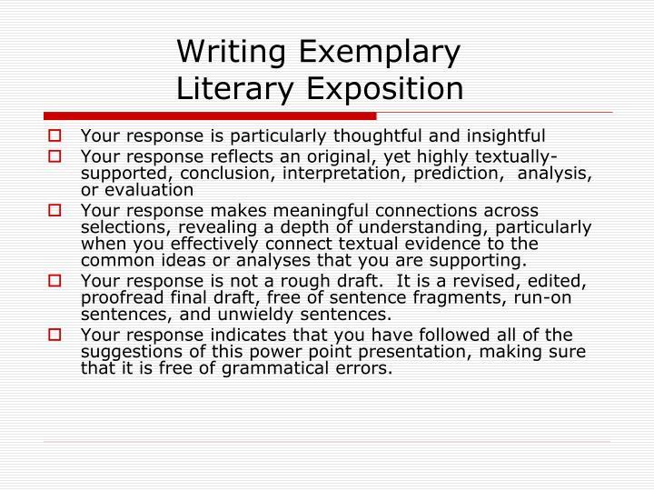 Writing Exemplary