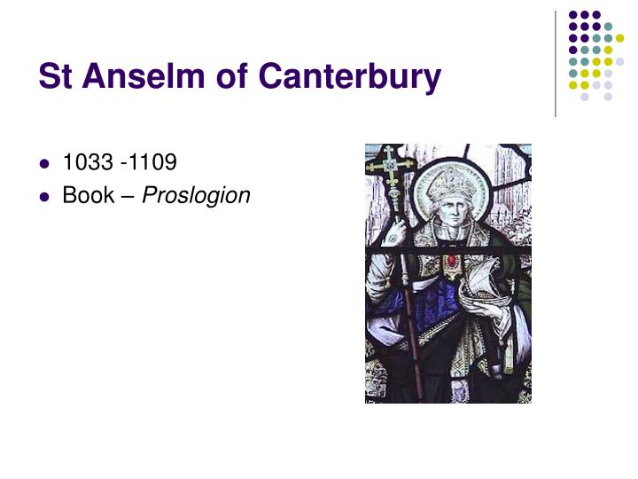 """a discussion on the ontological argument by st anselm """"the ontological argument"""" by st anselm canterbury cathedral, norman staircase, library of congress, ©detroit publishing topics worth investigating."""