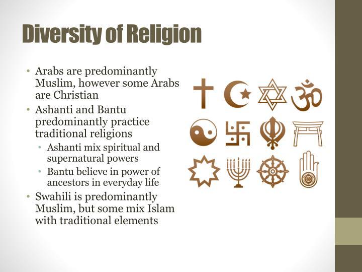Diversity of Religion