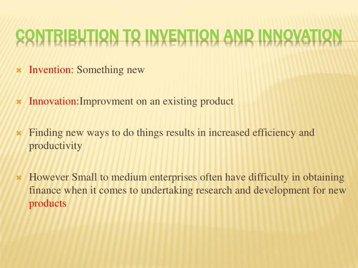 Invention: