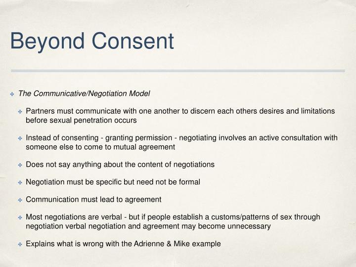 Beyond Consent