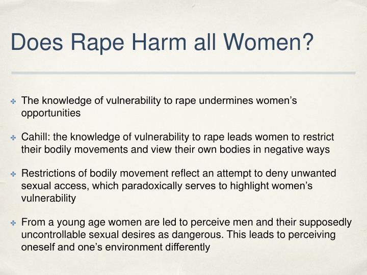 Does Rape Harm all Women?