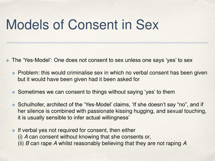 Models of Consent in Sex