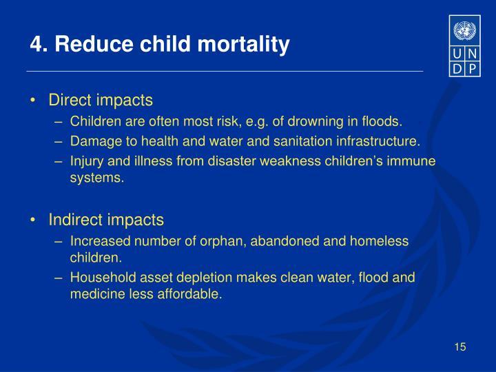 4. Reduce child mortality