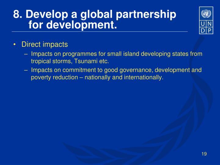8. Develop a global partnership