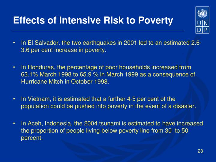 Effects of Intensive Risk to Poverty