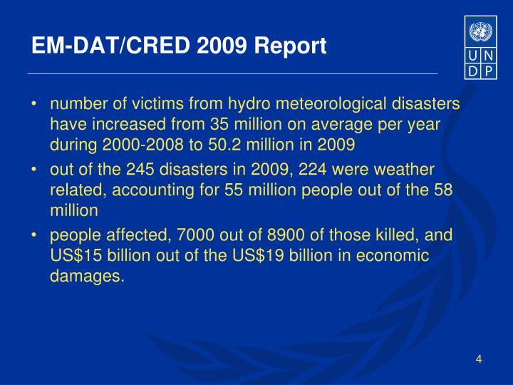 EM-DAT/CRED 2009 Report