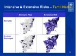 intensive extensive risks tamil nadu