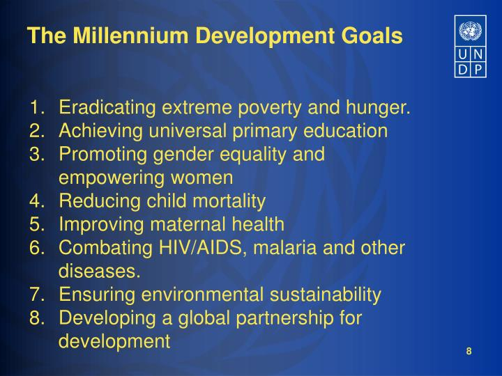 Eradicating extreme poverty and hunger.