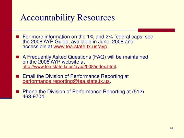 Accountability Resources