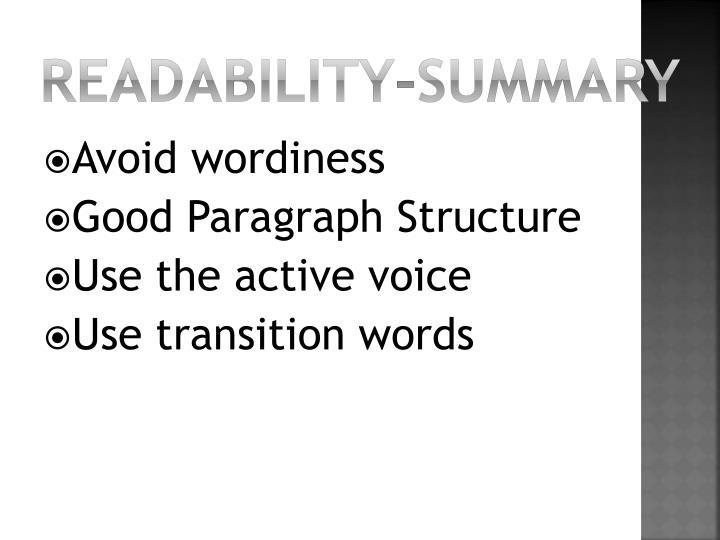 Readability-summary
