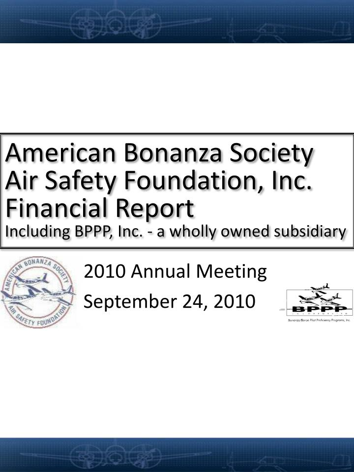 American Bonanza Society Air Safety Foundation, Inc.