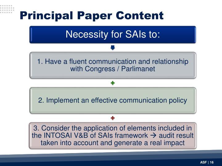 Principal Paper Content