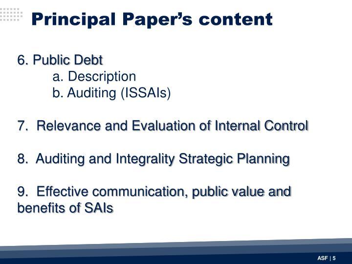 Principal Paper's content