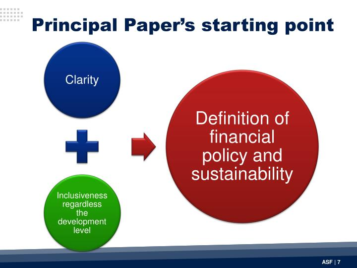 Principal Paper's starting point