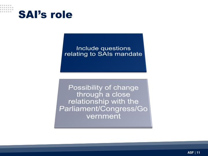 SAI's role
