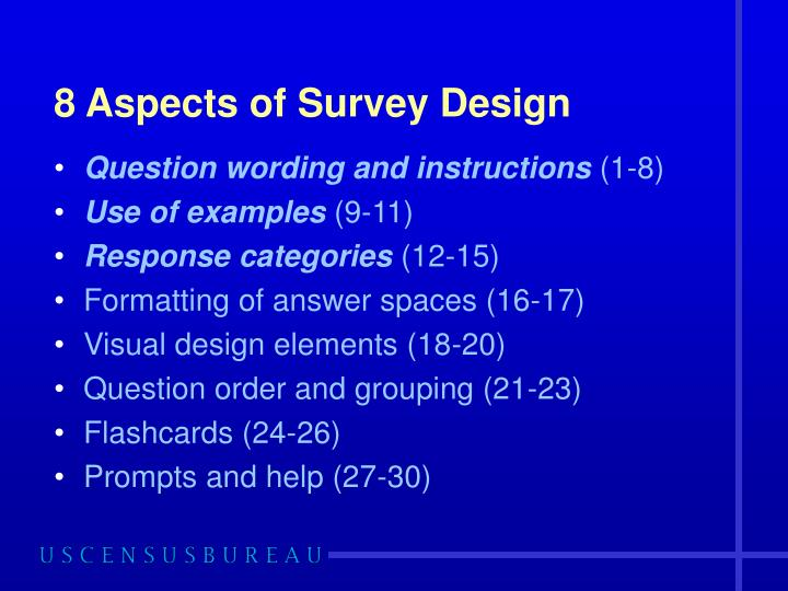 8 Aspects of Survey Design