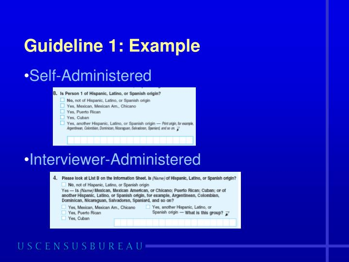 Guideline 1: Example