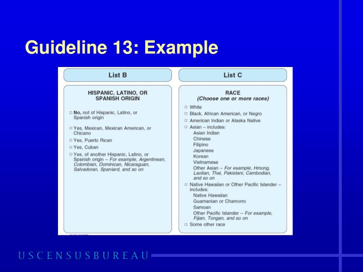Guideline 13: Example