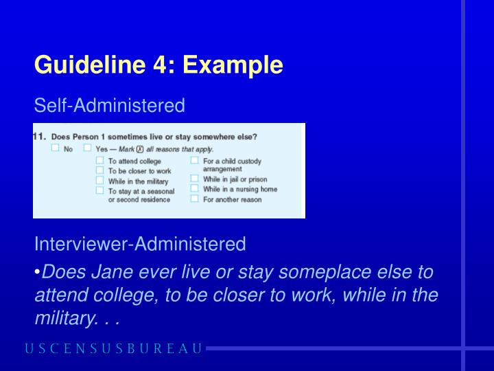 Guideline 4: Example