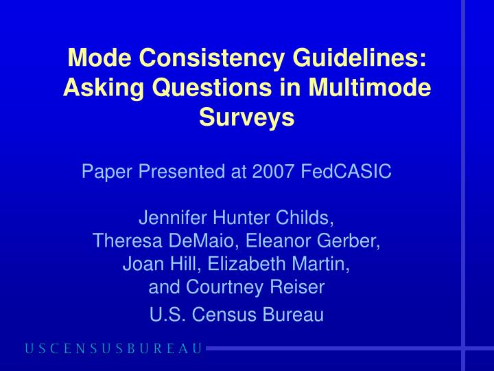 mode consistency guidelines asking questions in multimode surveys