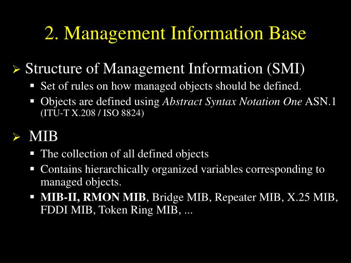 2. Management Information Base