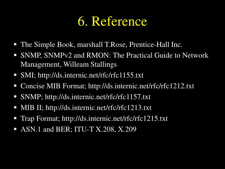6. Reference
