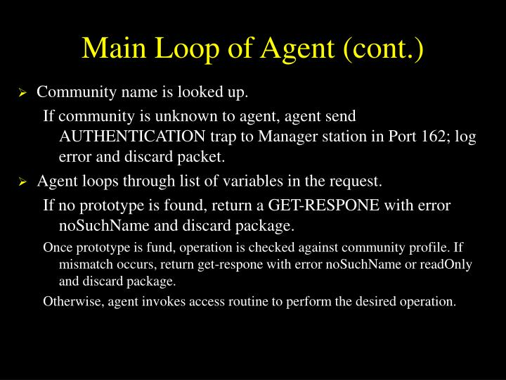 Main Loop of Agent (cont.)