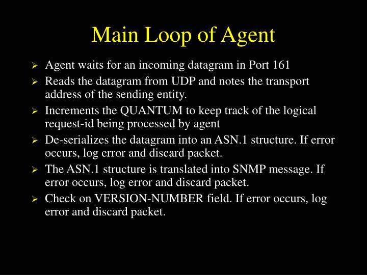 Main Loop of Agent