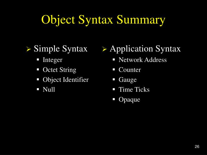 Simple Syntax