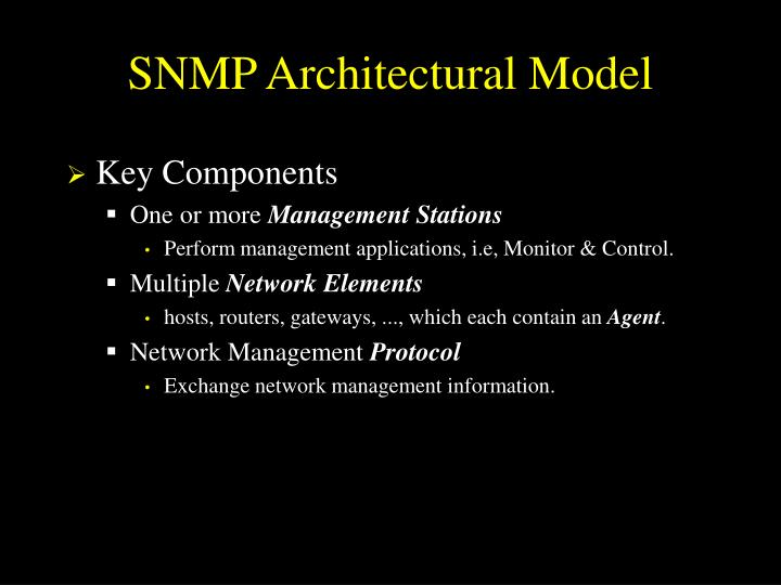 SNMP Architectural Model