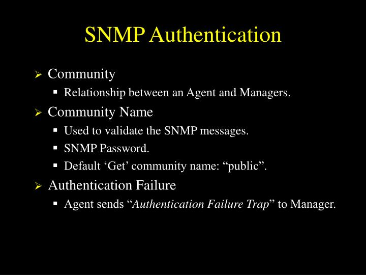 SNMP Authentication