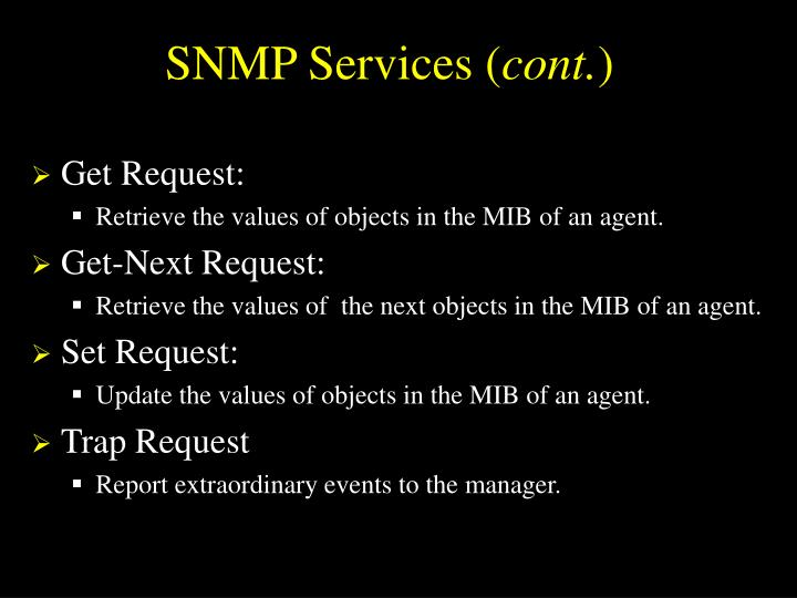 SNMP Services (