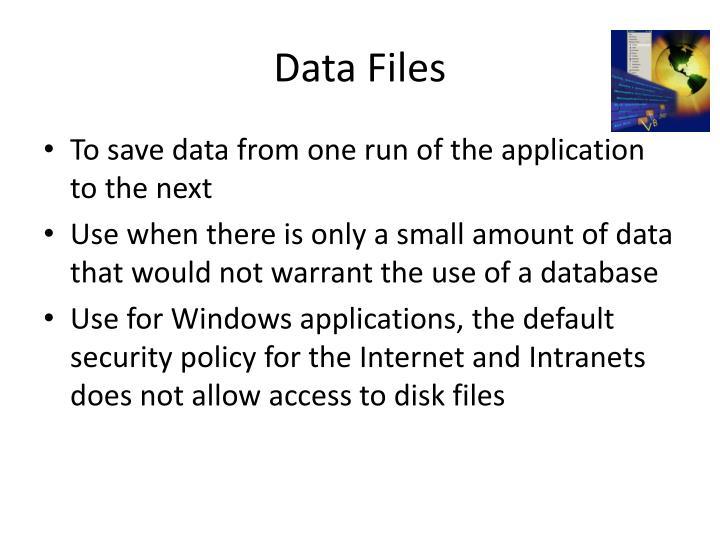 Data Files
