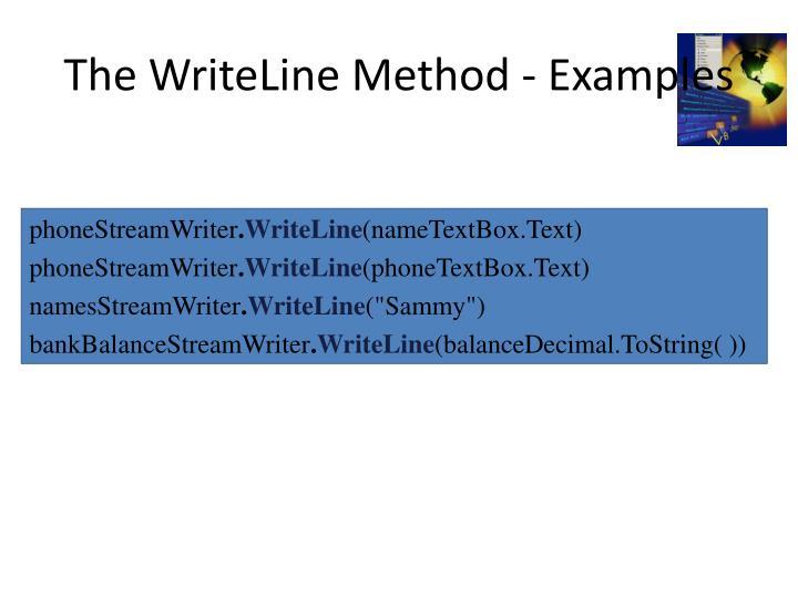 The WriteLine Method - Examples