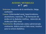 acidosis metabolica h ph