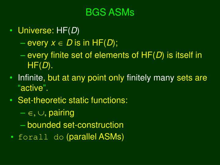 BGS ASMs