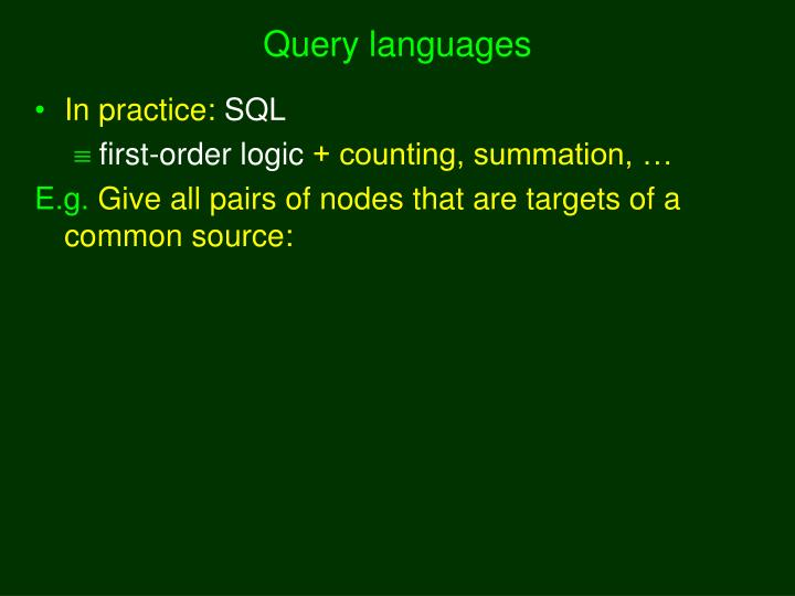 Query languages
