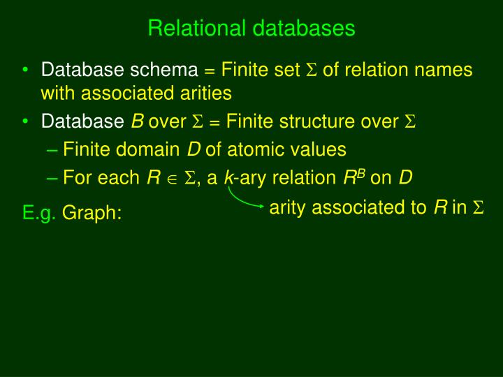 Relational databases